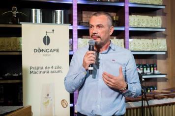 Marius Melesteu la lansarea Doncafe Fresh