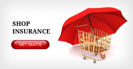Shopping trolley with insurance policy for shopkeepers