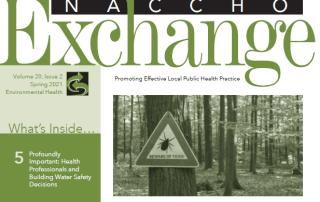 Header of NACCHO Exchange Spring 2021