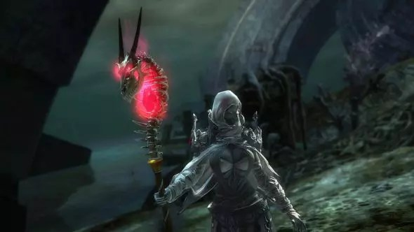 A character wielding the staff.