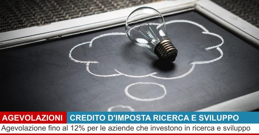 credito d'imposta ricerca e sviluppo 2020