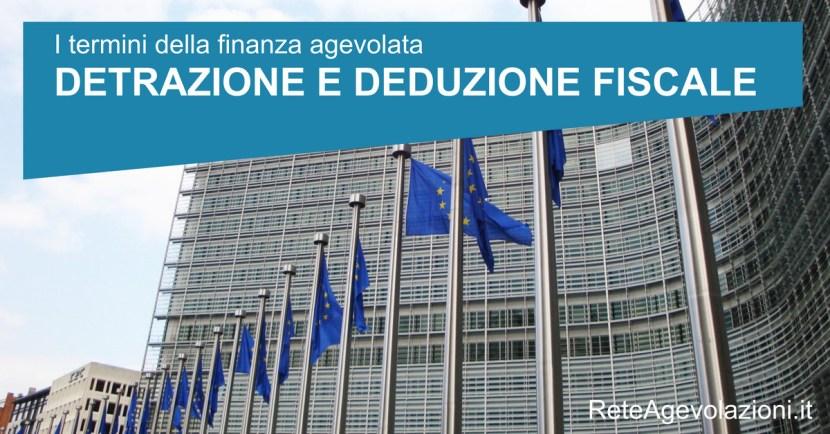 detrazione e deduzione fiscale
