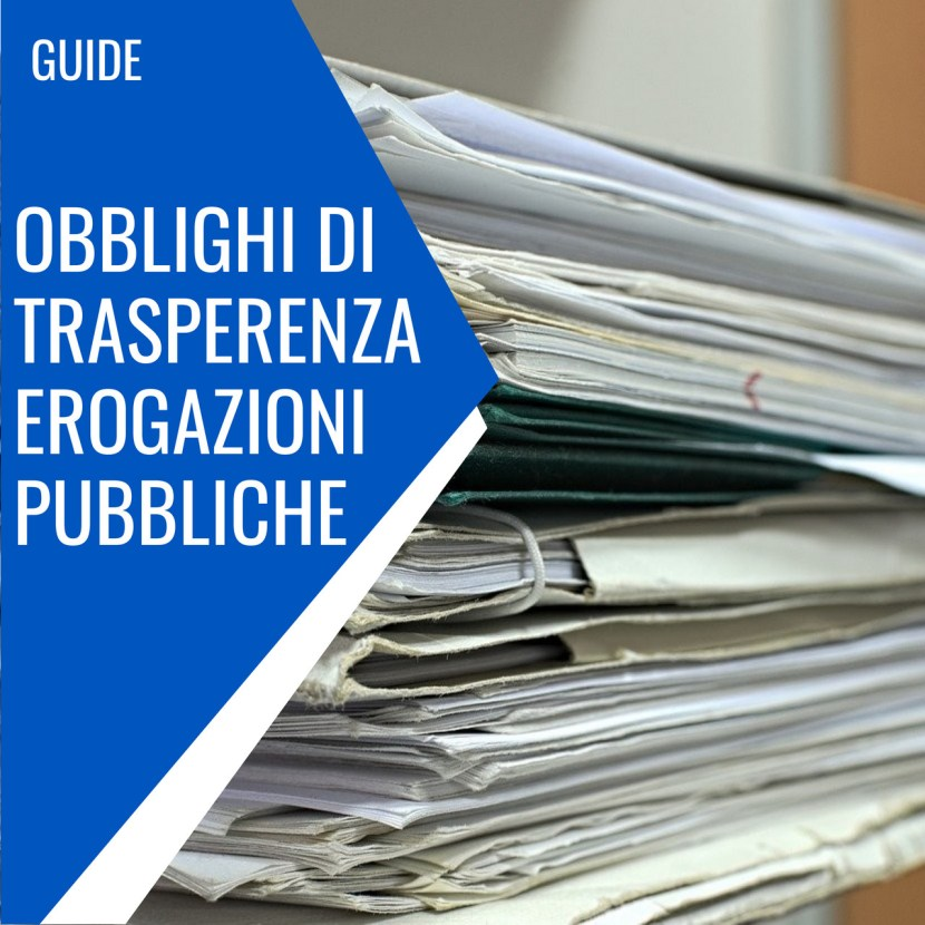 obblighi trasparenza erogazioni