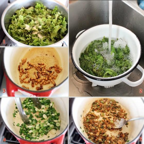 preparare ciorba de salata verde