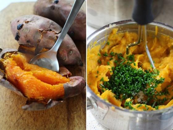 piure de cartofi dulci, preparare