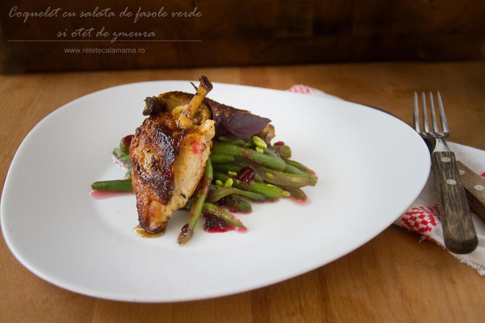 coquelet cu fasole verde si zmeura, reteta Chef Daniele Usai -Taste of Roma1