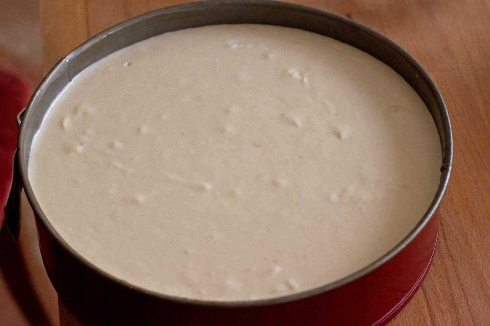prajitura fara coacere cu mere si crema de branza, asamblare 1