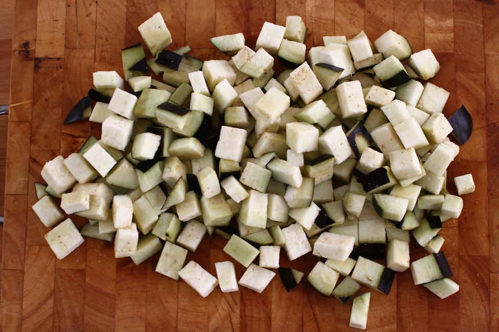 bruschete cu vinete si paine graham vel pitar, preparare 1