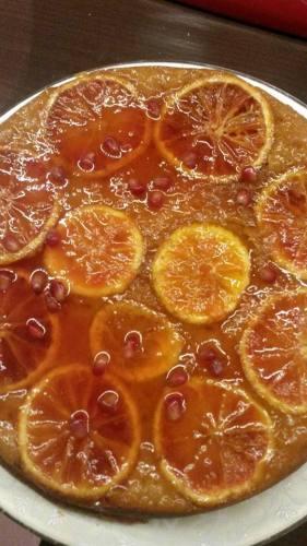 Prajitura cu portocale rosii