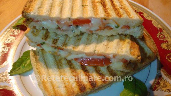 sandvici-cald-cu-mozzarella-si-rosii