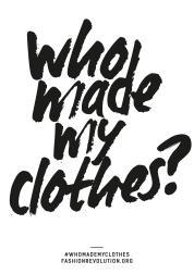 """Scritta: """"chi ha fatto i miei vestiti?"""""""