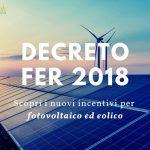 Incentivi fotovoltaico ed eolico