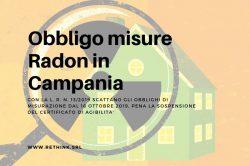 obbligo misure radon in campania