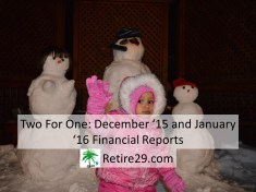 Two For One December 15 and January 16 Financial Reports
