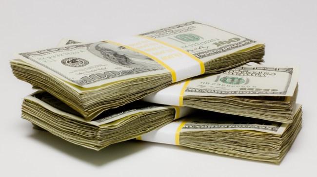 Stacks of cash
