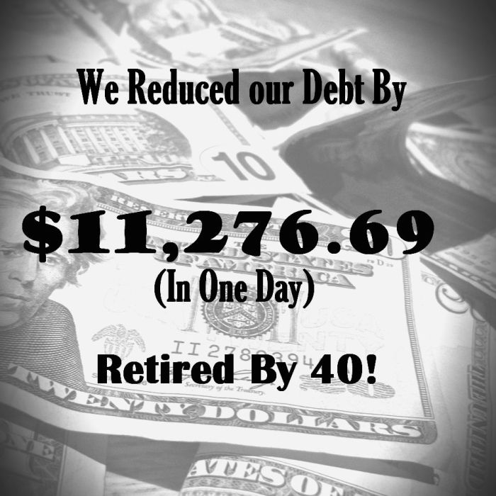We Reduced our Debt by $11,276.69 (In One Day)!