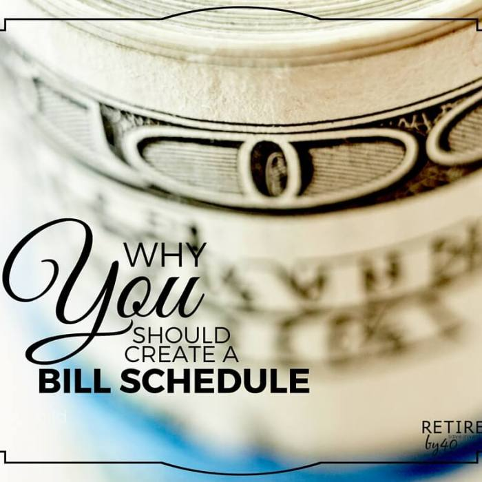 Why You Should Create a Bill Schedule