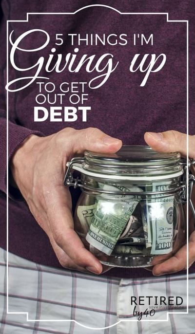 There are a few things we give up to get out of debt that are tougher than others. But, with some awesome strategies, you may not have to give them up completely!