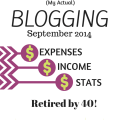 actual blogging income