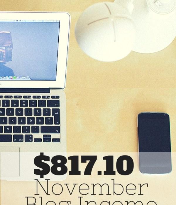 Traffic & Blog Income Report – November 2014