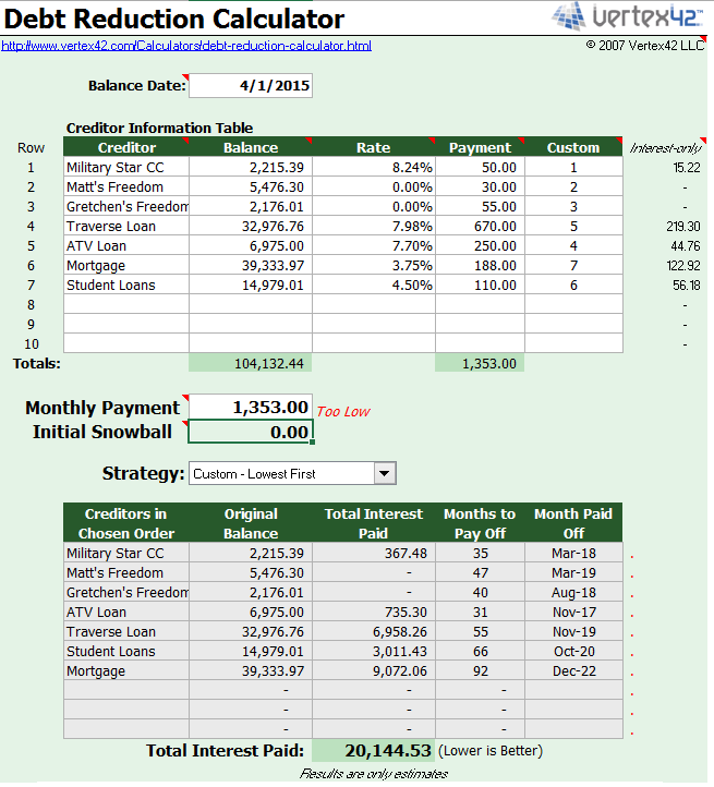 excel template screenshot