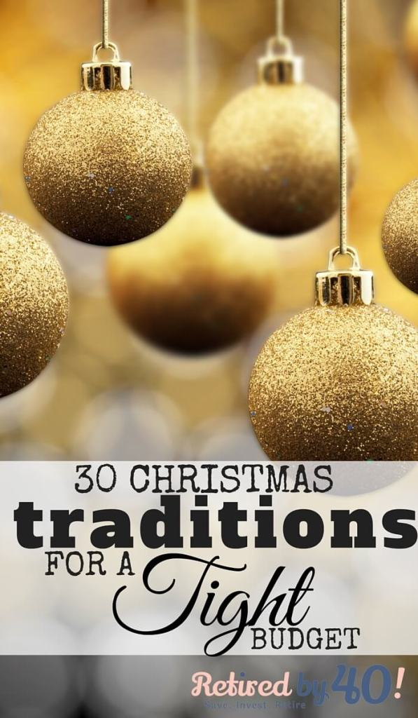 Don't worry, there are plenty of ways to create traditions with your family that involve little to no money, and I've listed 30 Christmas traditions for a tight budget to get you started!