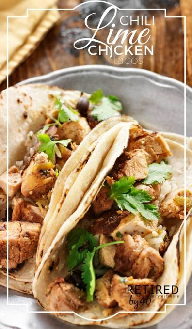 These Chili Lime Chicken Tacos are like a {healthy} taste of summer during these cold winter months! Can be made in the THM S or E!