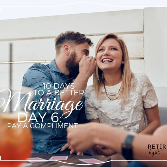 10 Days To A Better Marriage: Pay A Compliment