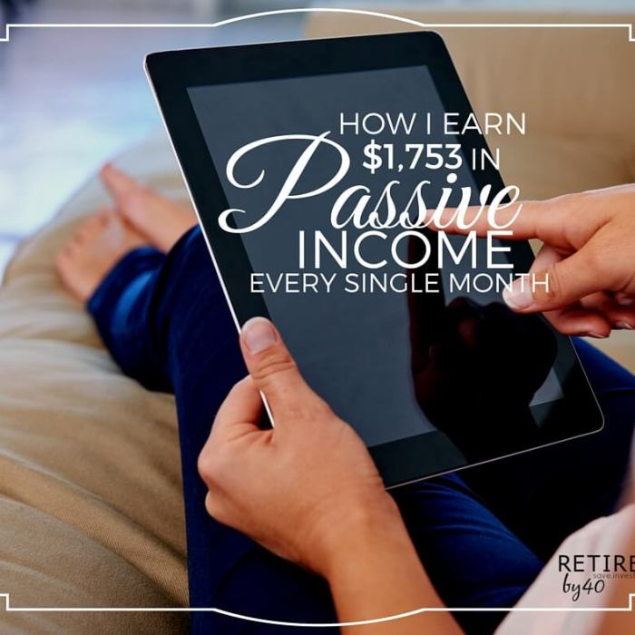 How I Earn $1,753 In Passive Income Every Single Month