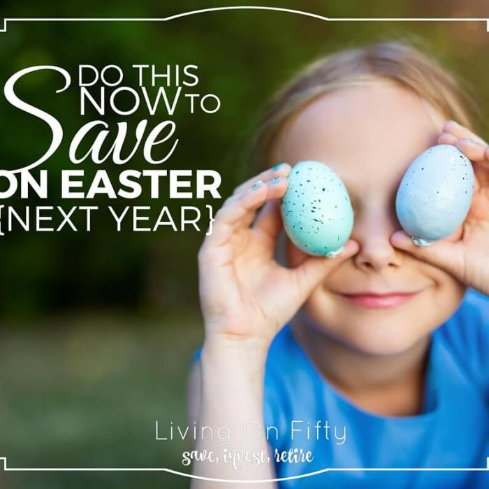 Do This NOW To Save Money On Easter Next Year