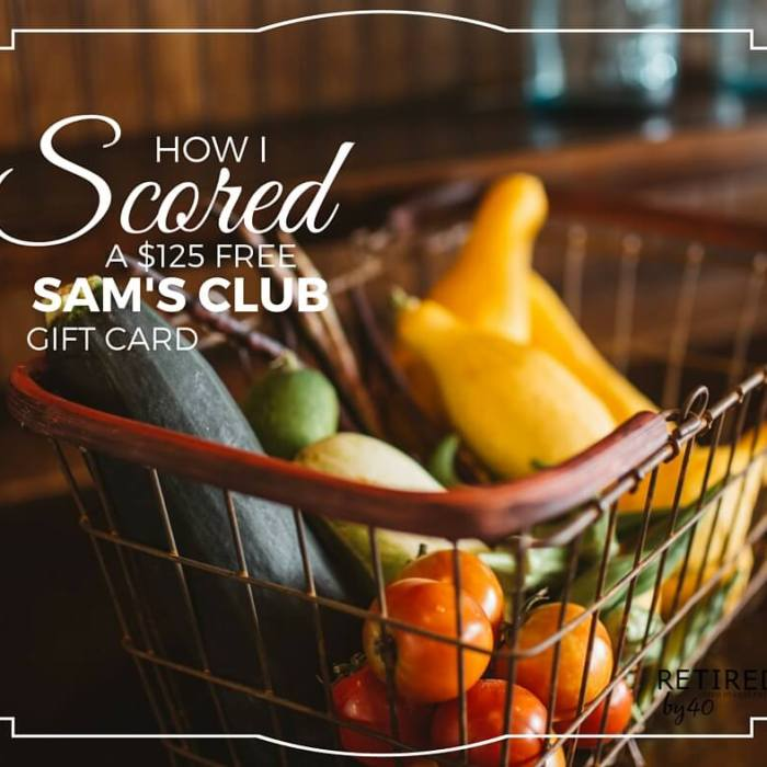 How I Scored a $125 FREE Sam's Club Gift Card Without Lifting a Finger