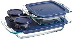 Best Price: Pyrex Easy Grab 8-Piece Glass Bakeware and Food Storage Set $13.59