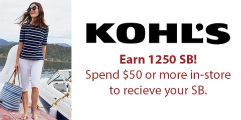 Get 25% Back When You Spend $50 at Kohl's