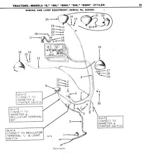 1949 jd B wiring diagram  Yesterday's Tractors