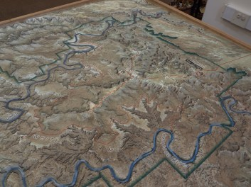 Model of the White Rim road in red
