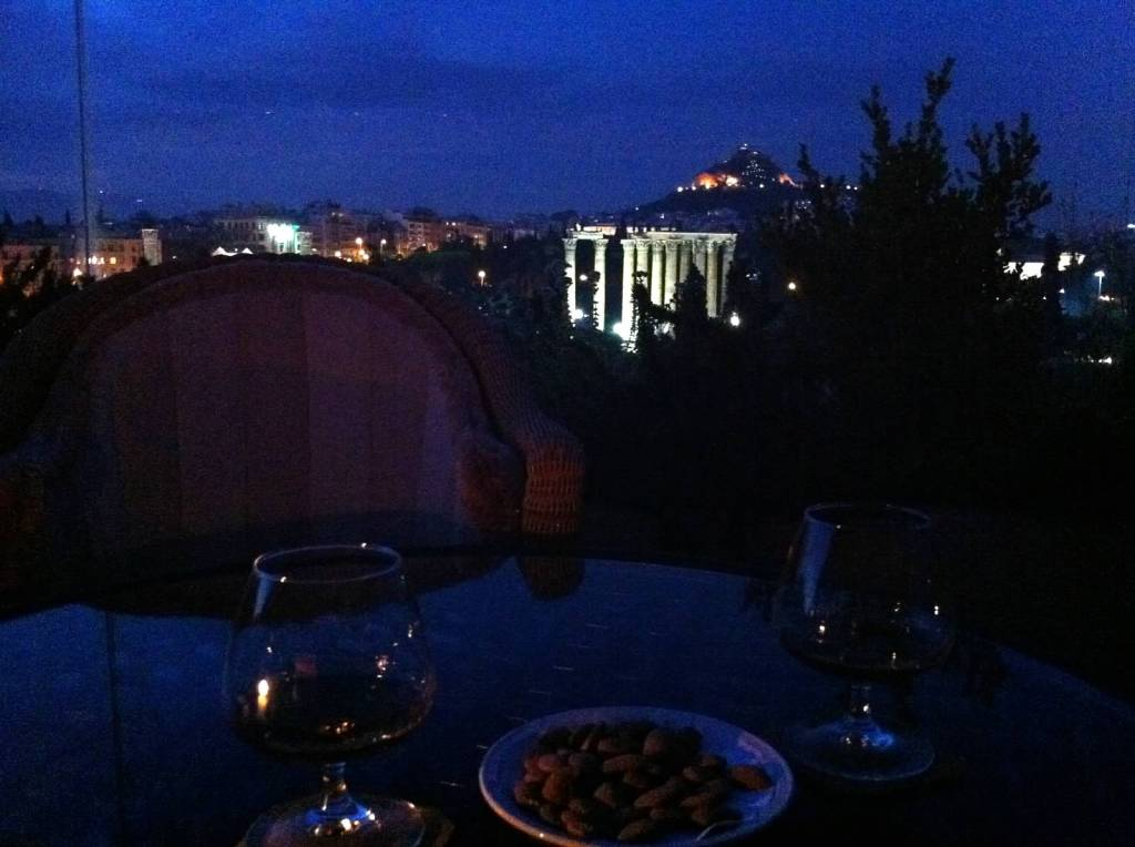 Temple of Zeus from the Royal Olympic Hotel
