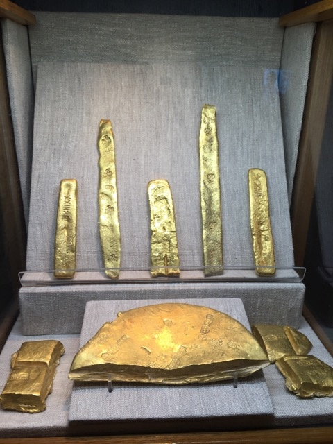 Gold bars from the Atocha.