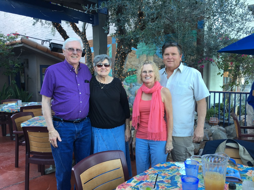 The four of us celebrating another year in the Coachella Valley!