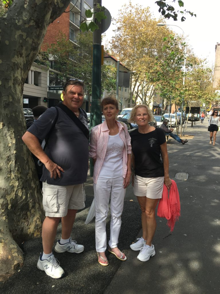 MNM with our new Aussie Friend Wendy. She gave us a private tour of the Potts Point area.
