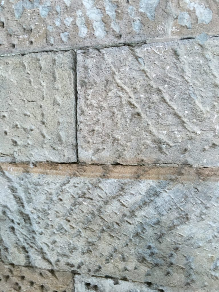 Convict's Chisel Marks on Building Stones