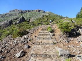 unterwegs von Achada da Teixeira, mit Aussicht auf den Pico Ruivo