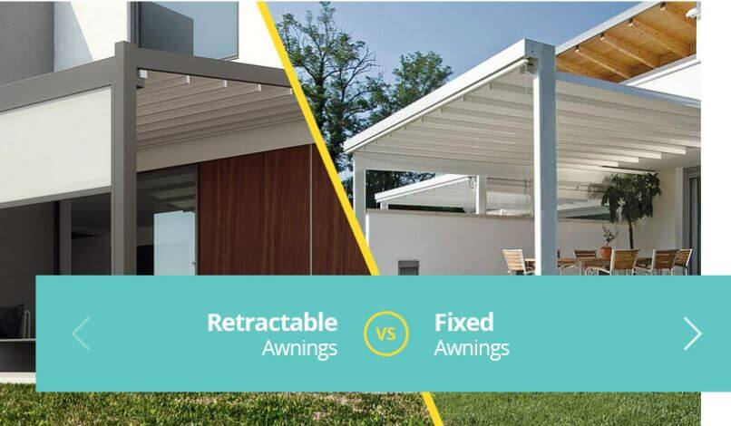 retractable vs fixed awnings which is