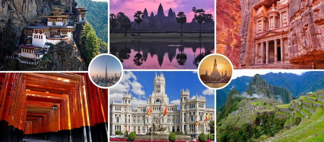 around the world tour in 2023 visits bhutan, cambodia, jordan, japan, spain, and peru