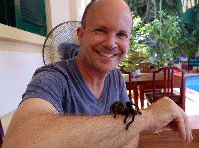 Sometimes you get to meet your meals. Sometimes that means that a waiter puts a live tarantula on you and then walks away.