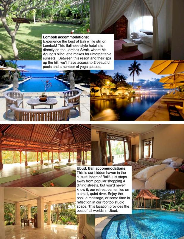 Bali  2015 accommodations sheet