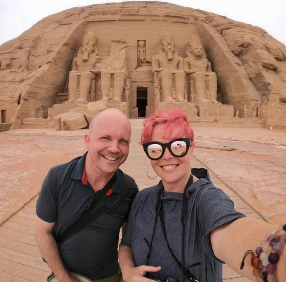 BJ and Lauren at Abu Simbel in Egypt