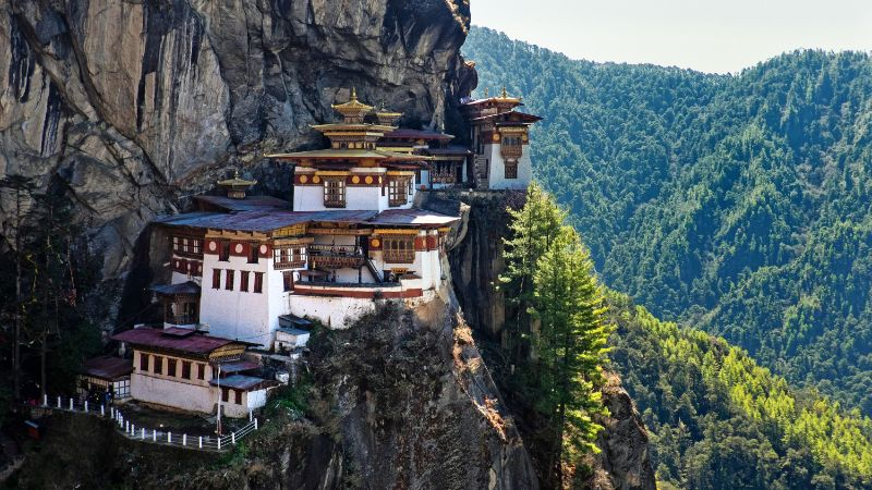 Private tours of Bhutan include a trip to Tiger's Nest