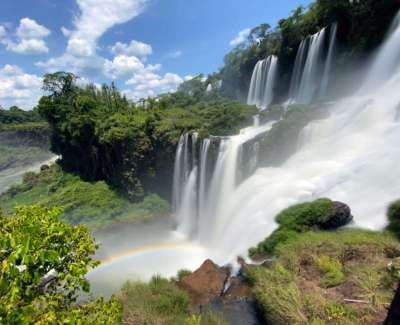 A view in Iguazu Falls from one of the lower paths on the Argentinian side.