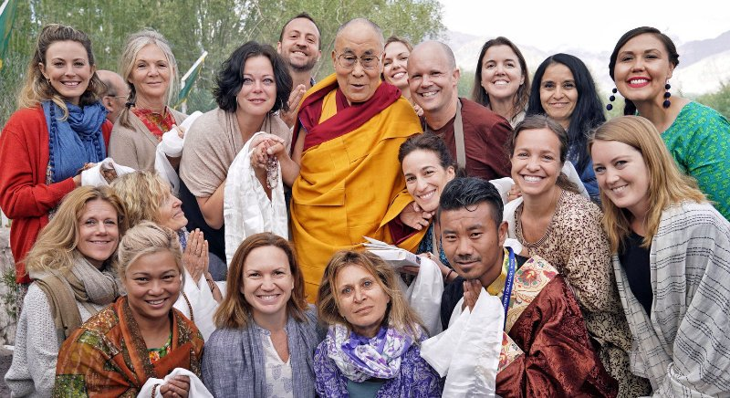 RetreaTours group with the Dalai Lama