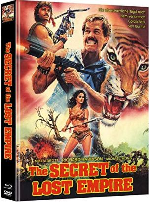 Secret of the Lost Empire (Ninja Operation 7 - Royal Warrior) - Mediabook - Cover A - Limited Edition (+ DVD) [Blu-ray]